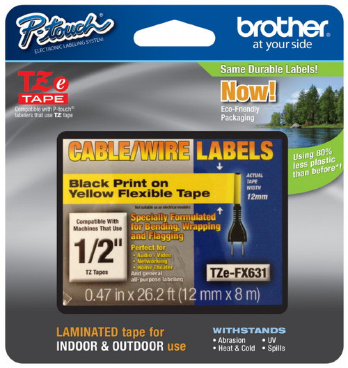 Brother TZEFX631 flexible p-touch tape