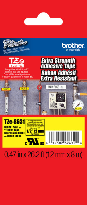 Brother TZ-S631 p-touch labels