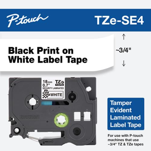 TZE-SE4 black on white 18mm