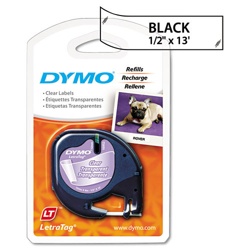Dymo 16952 Black on Clear Polyester