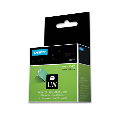 Dymo 30277 White Self-Stick File Tab Labels 260/Roll