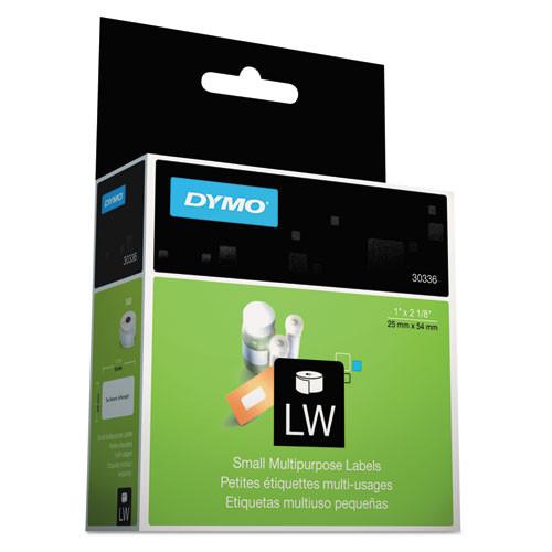 Dymo 30336 Multipurpose Labels, 1 In. x 2-1/8 In., 500/Roll