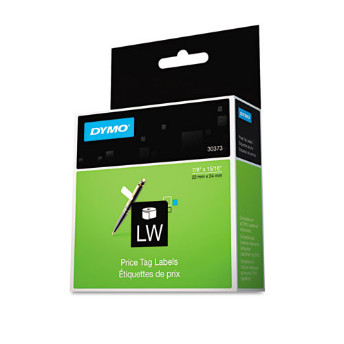 Dymo 30373 Price Tag Labels (Rat Tail Style), 400 Labels/Roll