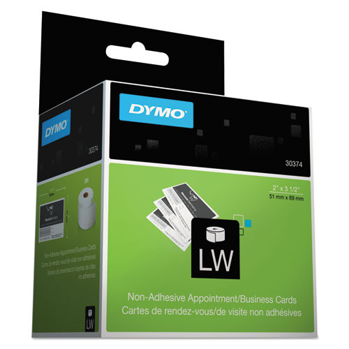 Dymo 30374 Appointment / Business Cards, 2 In. x 3-1/2 In.