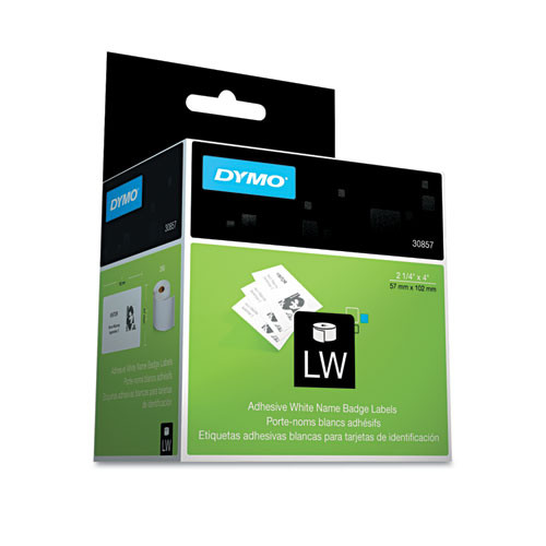 Dymo 30857 Adhesive Name Badges, 250/Roll Labels