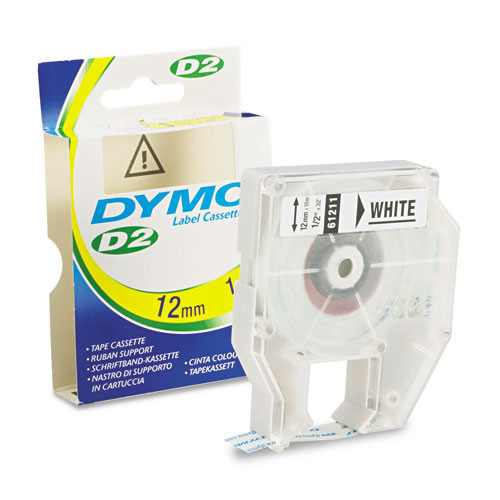 Dymo 61911 3/4 In D2 White Ink Ribbon Label Machine Tape