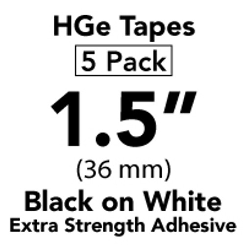 Brother HGe-S261 5PK Black on White Extra-Strength