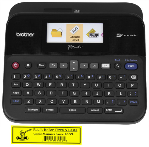 Brother P-touch PTD600VP PC Connectible Label Maker with Case PTD600VP Labeler
