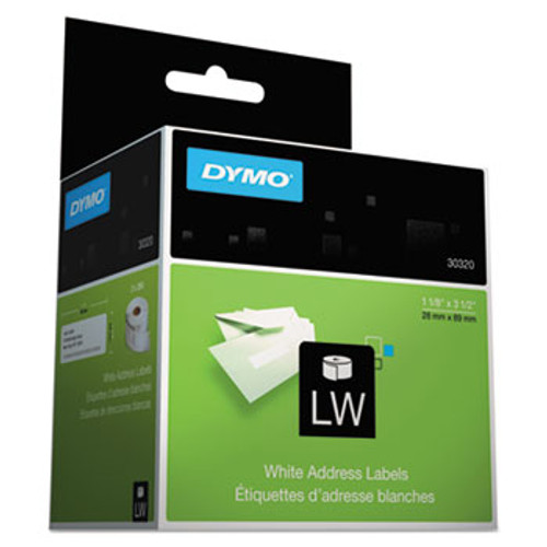 Dymo 30320 white adhesive labels
