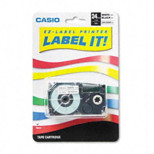 Casio XR24WE Black on White Tape Cassette