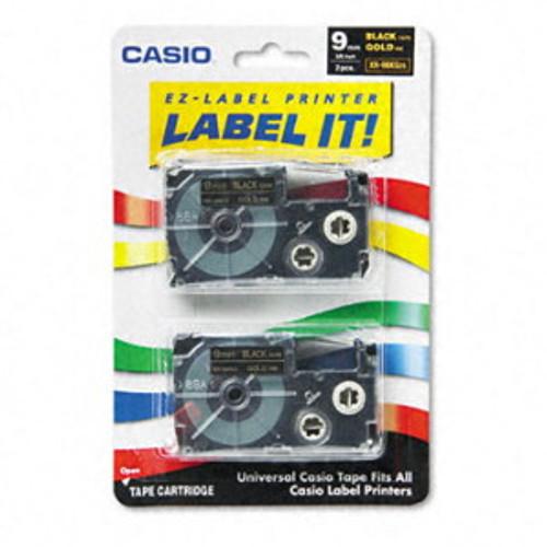 Casio XR9BKG2S Gold on Black Tape Cassettes