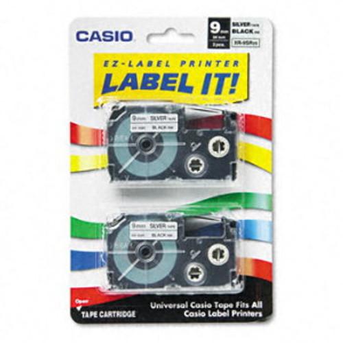 Casio XR9SR2S Black on Silver Tape Cassettes
