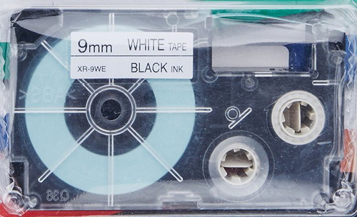 opened Casio XR9WE2S Tape Cassettes