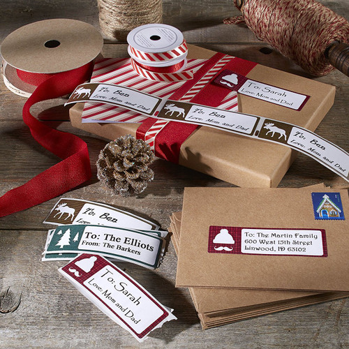 """DYMO LabelWriter Holiday Address Labels, Limited Edition, Tree, 1-1/8"""" x 3-1/2"""""""