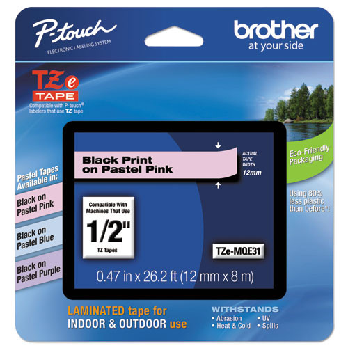Brother TZe-MQE31 pink p-touch tape