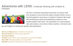 Adventures with LENS: Creatively Working with Children & Families!