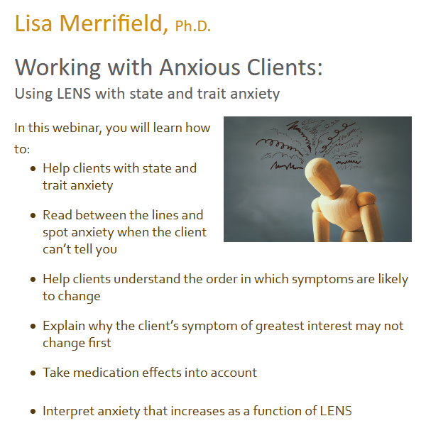 Working with Anxious Clients: State & Trait Anxiety