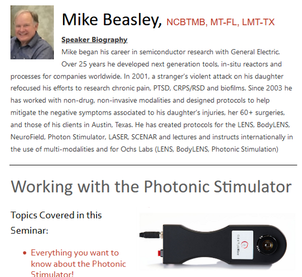 Photobiomodulation & the Theory of Light Webinar