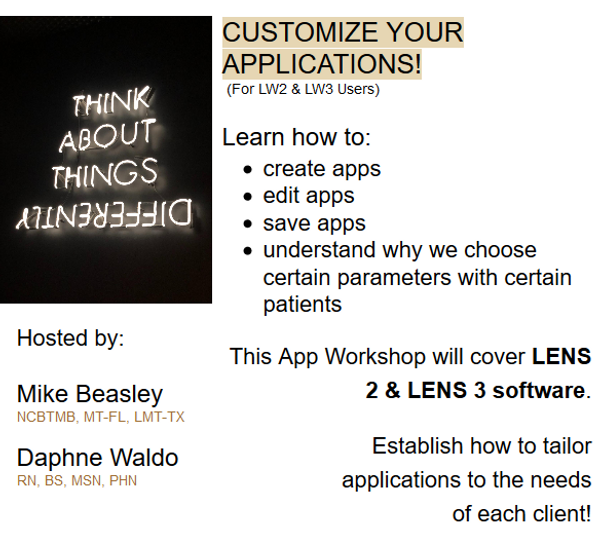 Customize Your LENS Applications