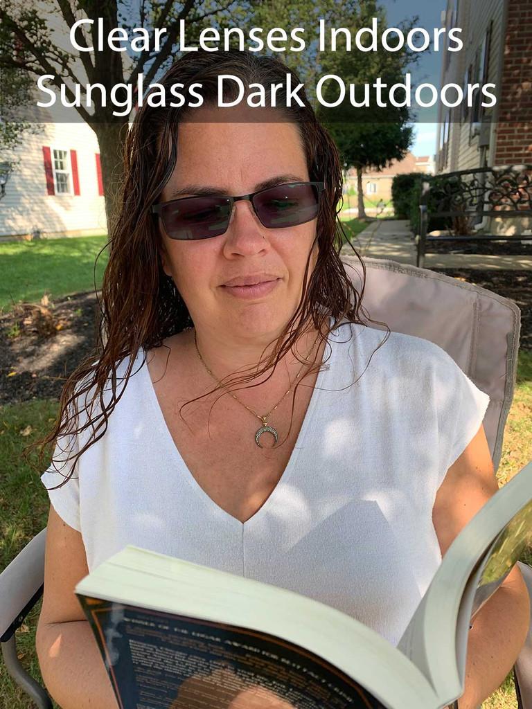 Bifocals Clear Indoors Dark Outdoors
