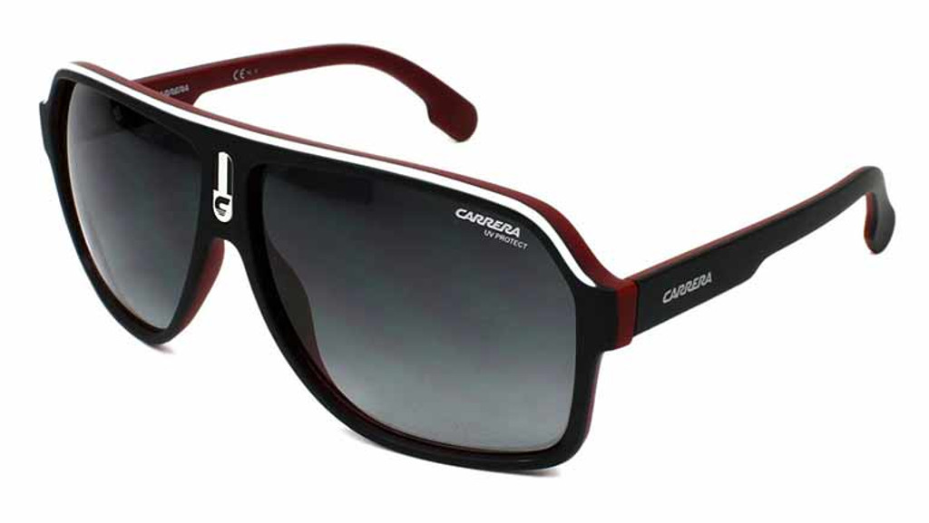 Carrera 1001S 0BLX Matte Black Bordeaux