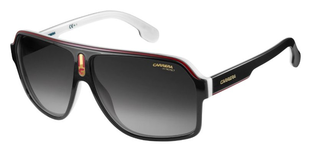 Carrera 1001S 080S 9O Black White Burgundy