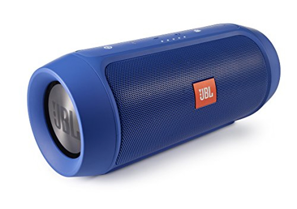 JBL Charge 2 Plus Splashproof Portable Bluetooth Speaker with Powerful Bass in Blue