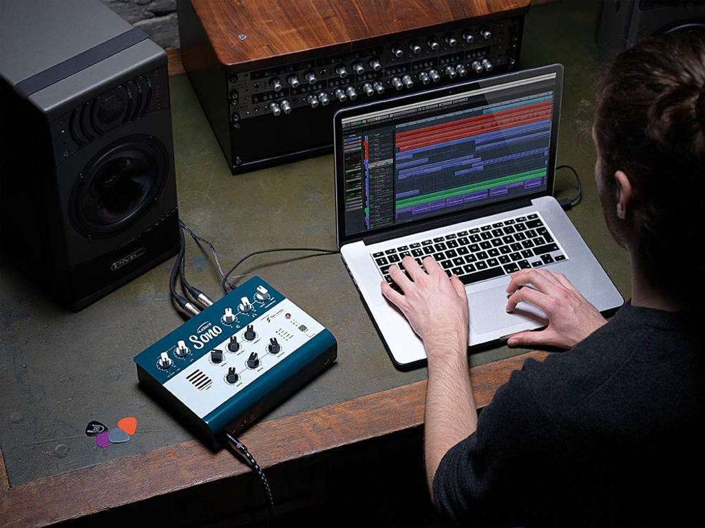 Audient Sono Amp Modeling Audio Interface with Two Notes Power amp, Cab Simulation and 3 Band Tone Control