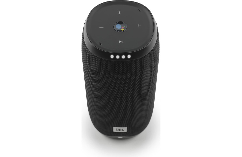 JBL Link 20 Waterpoof Multiroom Wireless Bluetooth Voice Activated Portable Speaker in Black Powered By Google