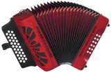 Hohner COFR Compadre Button Accordion in the Key of G with Red Finish