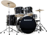 Ludwig Accent Series Complete Drum Package w/ Cymbals Black