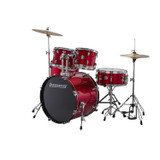 """Ludwig Accent Fuse 5-Pc Drum Set (LC1704) Wine Red Sparkle - Includes: Hardware"