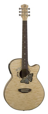 Luna Fauna Butterfly Acoustic/Electric Guitar