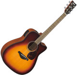 """Yamaha FGX700SC BS Acoustic-Electric Guitar"