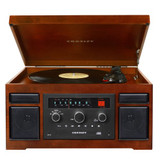 Crosley CR7007A-MA Patriarch 3-Speed Turntable with CD/Cassette Player