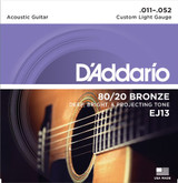 """D'Addario EJ13 80/20 Bronze Acoustic Guitar Strings"