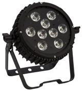 Epsilon Trim-Par 9VR 5-in-1 (RGBAW) Low profile wash light w/9 10-watt LEDs.