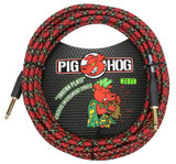 """Pig Hog """"""""Rasta Stripes"""""""" Instrument Cable 20ft"""