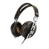 Premium around-the-ear portable headphone with leather headband and cushions, volume control and int
