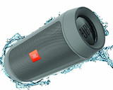JBL Charge 2 Plus Splashproof Portable Bluetooth Speaker with Powerful Bass in Gray