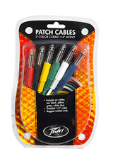 Peavey 00054570 3 Foot Colored 1/4 Inch 6-Pack Patch Cables