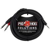 Pig Hog PB-S3410 10ft 1/8th to Dual 1/4 Stereo Breakout Cable