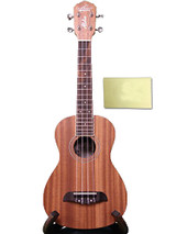 Oscar Schmidt 4 String Concert Ukulele, OU2, All Birch Construction, Chrome Diecast Tuners and Polishing Cloth