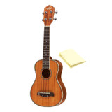 Oscar Schmidt All Koa Concert Acoustic/Electric Ukulele, EXCLUSIVE, OU5E, Grover Tuners, Includes TMS Polishing Cloth