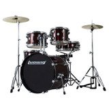 Ludwig Accent Drive 5 Piece Drum Set with Hardware and Cymbals, Red