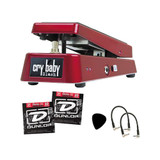 """DUNLOP Wah Pedal SW95 Bundle w 2 Dunlop String Sets, Pick Pack & 2 Patch Cables"""