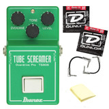 IBANEZ TS808 Tube Overdrive Effect Pedal Kit w 2 Patch Cables, Strings & Cloth