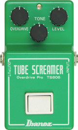 Ibanez TS808 -Overdrive, Tone And Level Controls-Delivers That Warm, Natural Tube Overdrive Sound