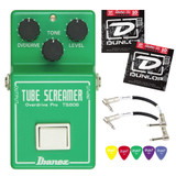 IBANEZ TS808 Tube Overdrive Effect Pedal Kit w 2 Patch Cables, Strings & Picks