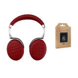 Parrot Zik 3 Wireless Noise Cancelling Touch Control Bluetooth Headphones (Red Croc) with Parrot Interchangable Battery for Zik 2 and Zik 3